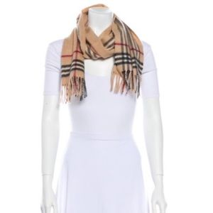 Authentic Burberry Cashmere-Wool Scarf